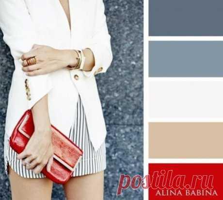 На заметку модницам - идеальные сочетания цветов в одежде Если у вас не совсем получается сочетать разные цвета в одежде, то мы вам поможем. Вот несколько капризных цветов, которые сложно сочетать с другими цветами. Предлагаем вам подборки идеальных цветовых решений одежды...