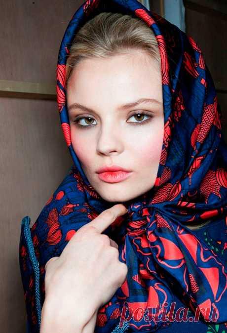 Как завязать платок, чтобы он не спадал - маленькие хитрости
