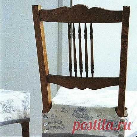 Простой чехол на стул. Выкройка (Шитье и крой) — Журнал Вдохновение Рукодельницы