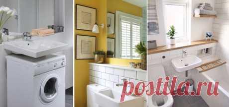 #крошечная #ванная Не знаете, как оформить компактную ванную комнату? Мы нашли интересные идеи, которые помогут вам сделать санузел удобным и красивым