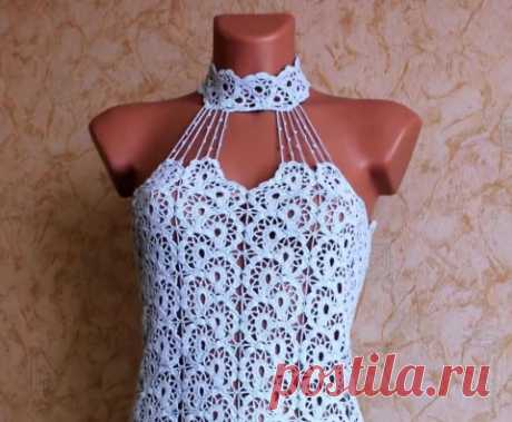 Tremendous dress from tape lace. Video