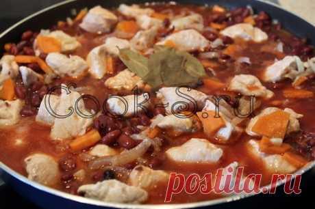Курица, тушеная с фасолью - Пошаговый рецепт с фото | Блюда из курицы