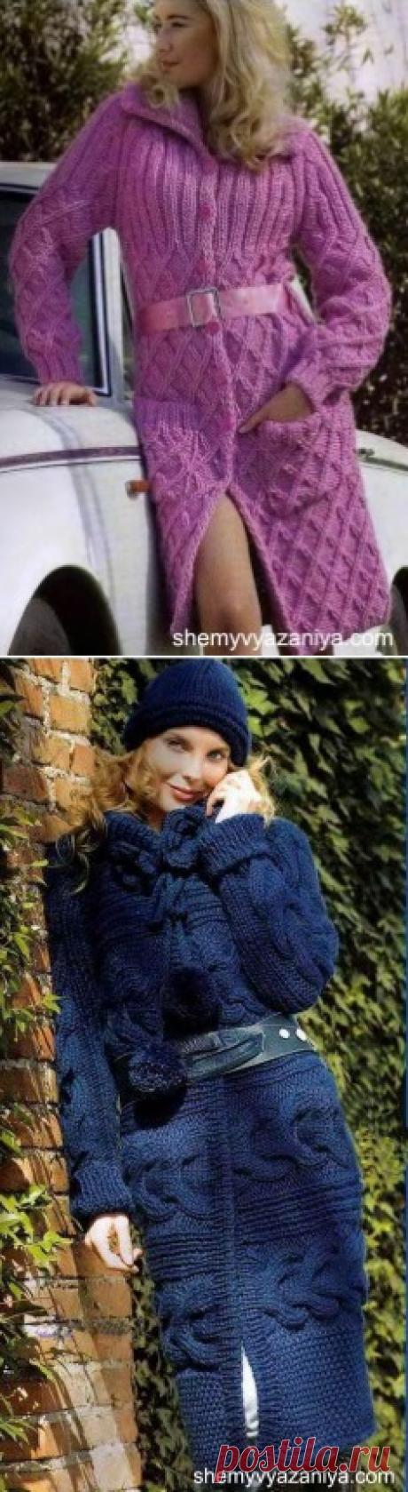Пальто » Схемы вязания