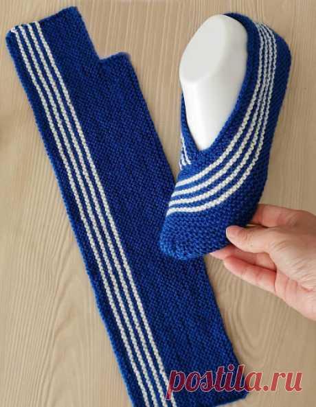 Тапочек много не бывает! Идеи для любителей вязания.