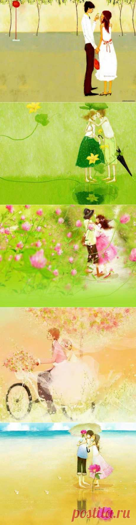 Soulpost.ru | Счастливый мир наполненный любовью (26 картин)