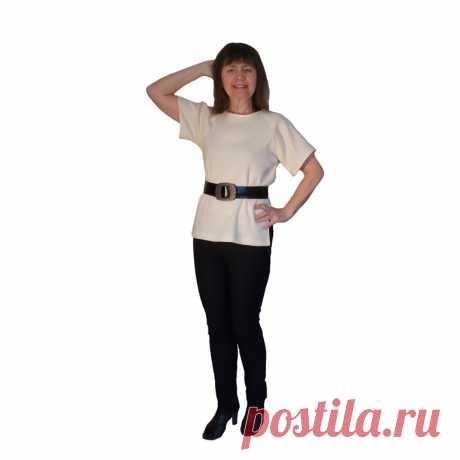 Научиться шить блузку реглан без выкройки очень просто. Широкая блузка без вытачек с разрезами по бокам. Только прямые швы. Ворот обработан косой бейкой.