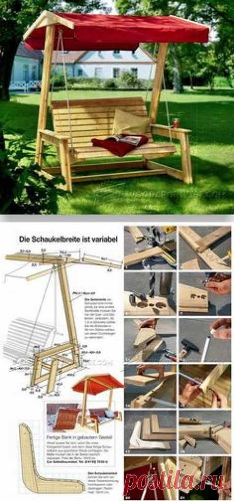 DIY Garden Swing - Outdoor Furniture Plans and Projects   WoodArchivist.com