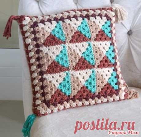 Подушки и коврик крючком (идеи из интернета) - Вязание - Страна Мам