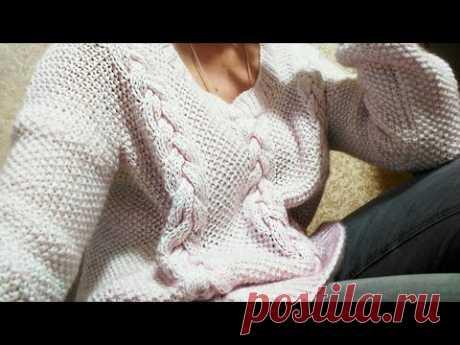 КРАСИВЫЙ СВИТЕР 💃/ Мастер Класс / Вязание Knit Mom