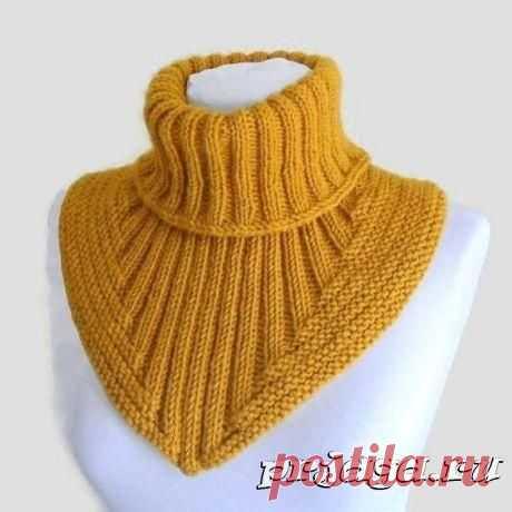 Очень интересный комплект: манишка, шапка и митенки спицами. | вязание | Вязание, Шарф и Вязание крючком
