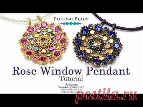Rose Window Pendant - DIY Jewelry Making Tutorial by PotomacBeads