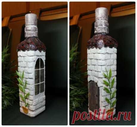 Декорируем бутылку для праздника