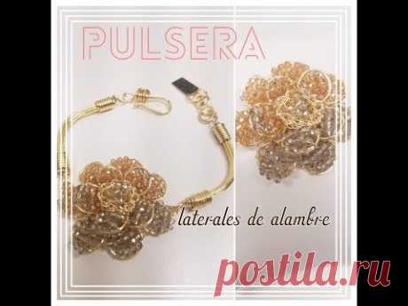 PULSERA CON LATERALES DE ALAMBRE !! (BISUTERIA)