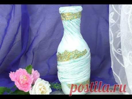 Как легко и просто сделать вазу из бутылки. ХоббиМаркет