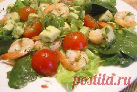 Легкий салат с креветками и авокадо рецепт – греческая кухня: салаты. «Еда»