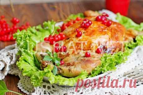 Курица, фаршированная грибами и капустой. Пошаговый рецепт с фото • Кушать нет
