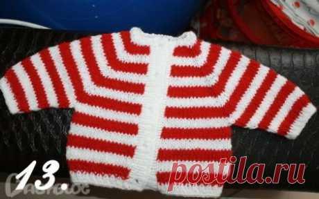 Вязание спицами реглана для детей: выполненение от горловины к низу изделия