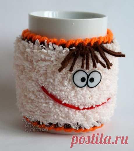 Забавная кружка-улыбашка:) Ручная работа, можно купить за 350 руб.