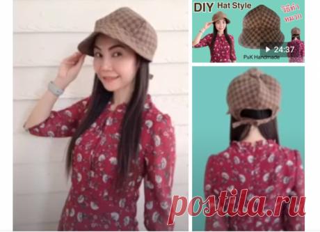 Выкройка необычной женской кепки на осень DIY Модная одежда и дизайн интерьера своими руками