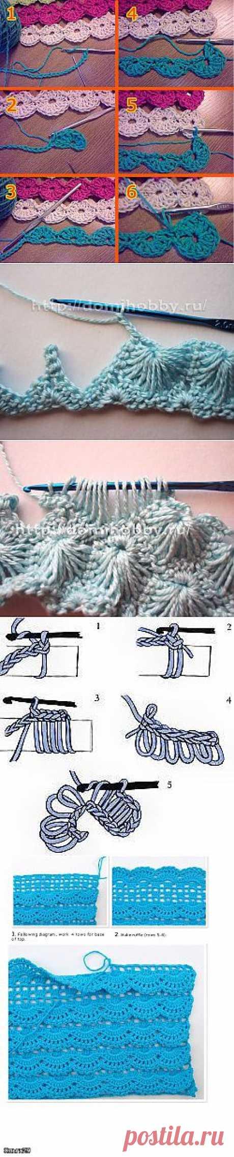 Красивые стежки для вязания крючком..