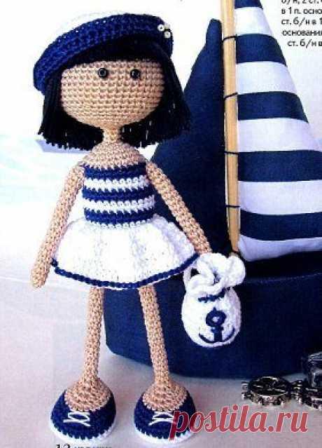Вязание игрушек крючком. Кукла