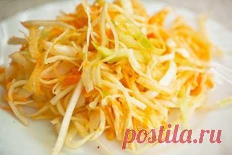 Салат из капусты - Пошаговый рецепт с фото своими руками Салат из капусты - Простой пошаговый рецепт приготовления в домашних условиях с фото. Салат из капусты - Состав, калорийность и ингредиенти вкусного рецепта.