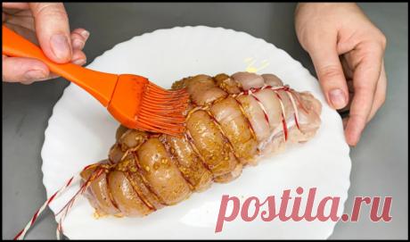 Очень вкусная мясная закуска: вы забудете о покупной колбасе навсегда (видеорецепт приготовления)
