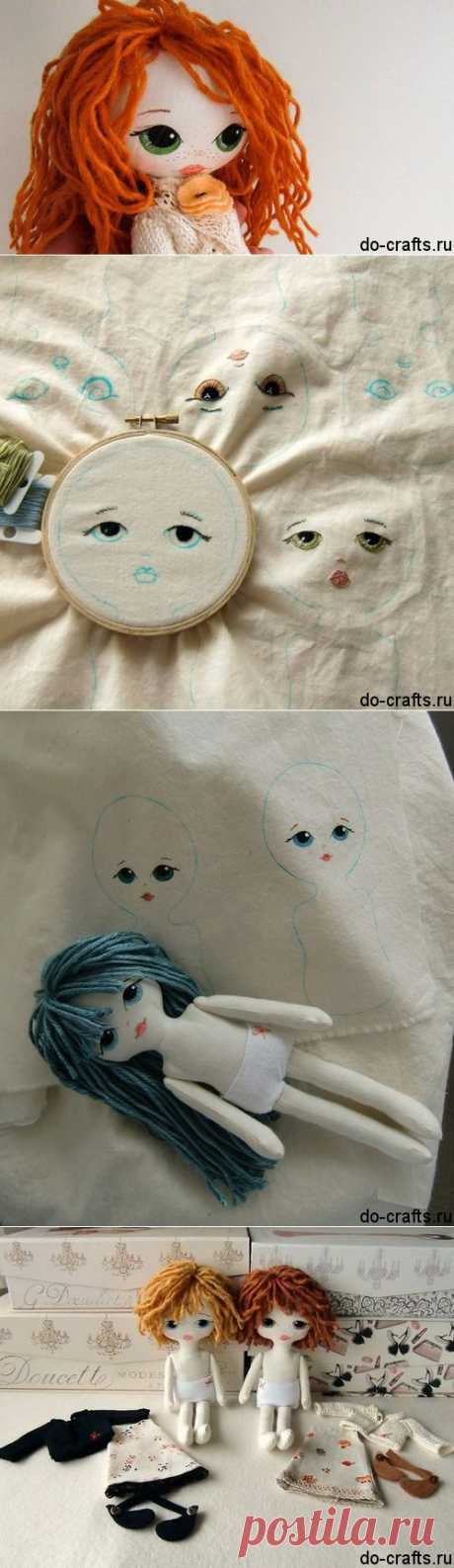 Как сделать куклу из ткани своими руками.