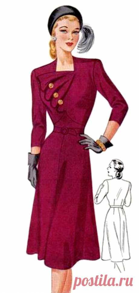 Платье с оригинальной отделкой на лифе