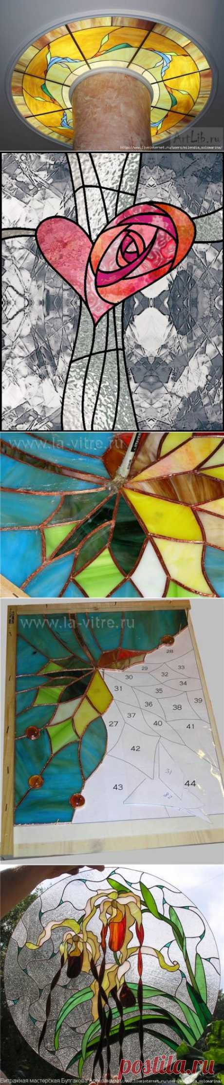Imitation of a jellied stained-glass window the hands.