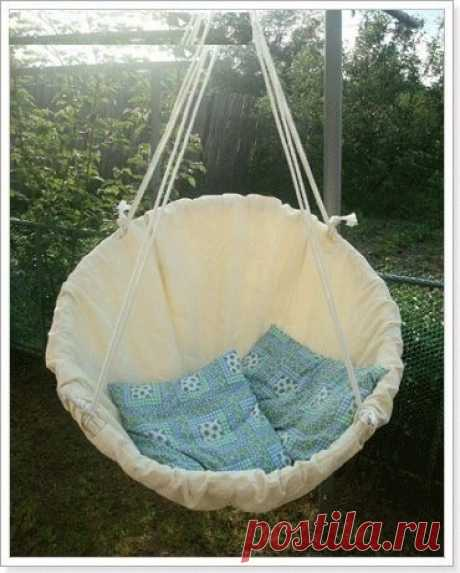 How to make a hanging chair with own hands