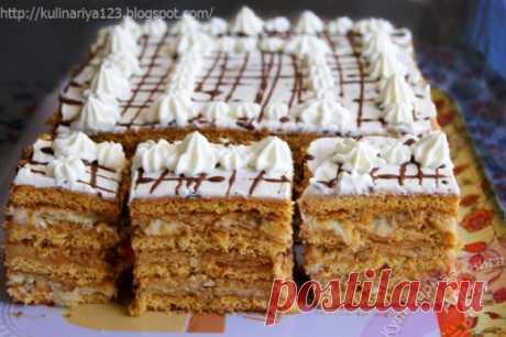 Торт «Арлекин»- вкуснейший союз «Медовика» и «Наполеона»!
