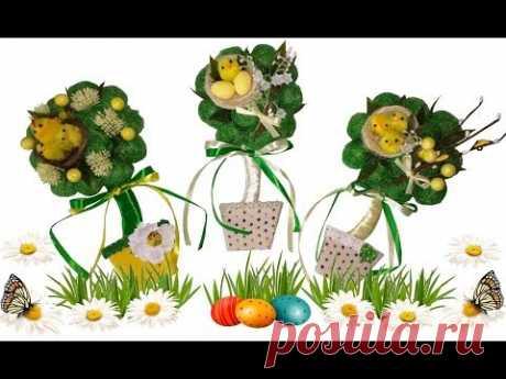 DIY к ПАСХЕ: ПАСХАЛЬНЫЙ ТОПИАРИЙ МАГНИТ из СИЗАЛЯ/ MAGNET TOPIARY for Easter/ИДЕИ пасхального декора