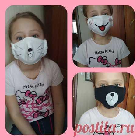 Просто маски уже не годятся,поимпровизировали с внучкой! #маскадлялица #маскасвоимируками #маскадетская