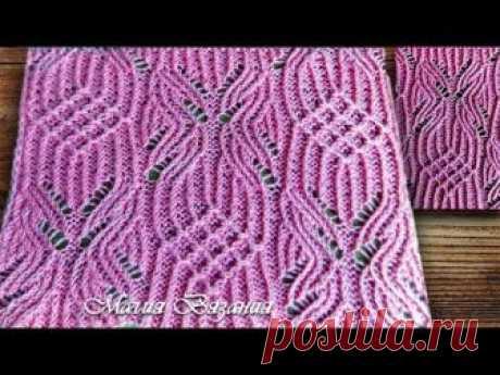 Ажурный узор спицами. Шикарный свитер | Вязаные Идеи.