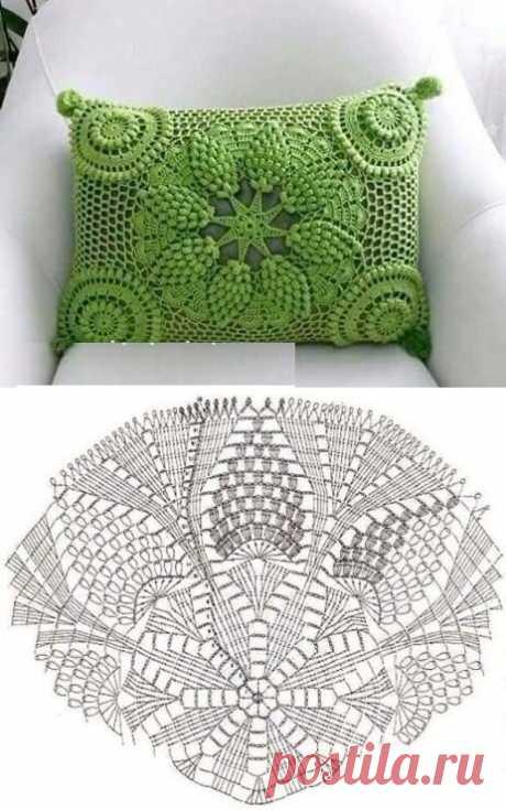 Ажурные подушки крючком. Очень красивые схемы | Южная сова | Яндекс Дзен
