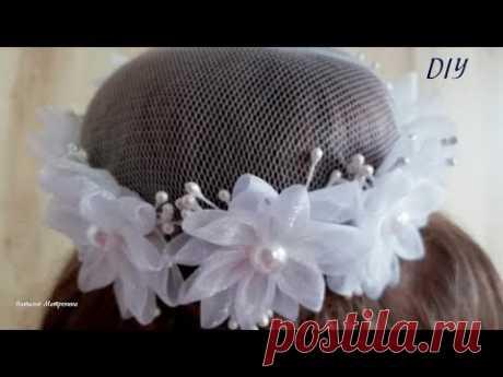 Сеточка на гульку из органзы,Hairnet on the bun organza, DIY,МК