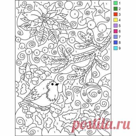 Отличный способ занять ребенка и развить у него внимательность: новогодние раскраски по номерам / Необычные поделки