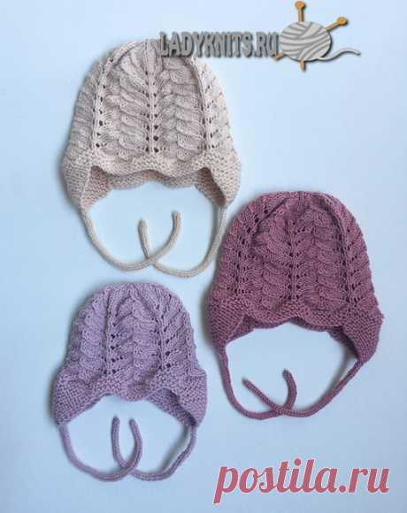 Вязаная ажурная шапочка ребенку, описание для ребенка от рождения до 2 лет