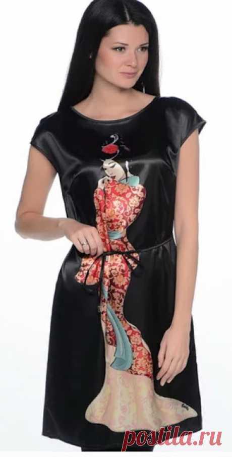 Платье за один вечер  Платье за один вечер по силам сшить даже новичку   Это платье сшить за один вечер по силам даже новичку в этом деле. Подойдет любая легкая ткань - шелк, тонкий трикотаж, лен, х/б, и даже шифон. Выкр…