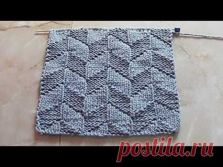 Bilateral structural pattern Knitting by spokes of Videouroki7