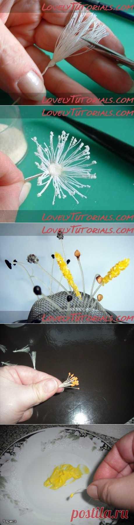 самодельные тычинки для цветов-How to Make Your Own Flower Stamens - Мастер-классы по украшению тортов Cake Decorating Tutorials (How To's) Tortas Paso a Paso