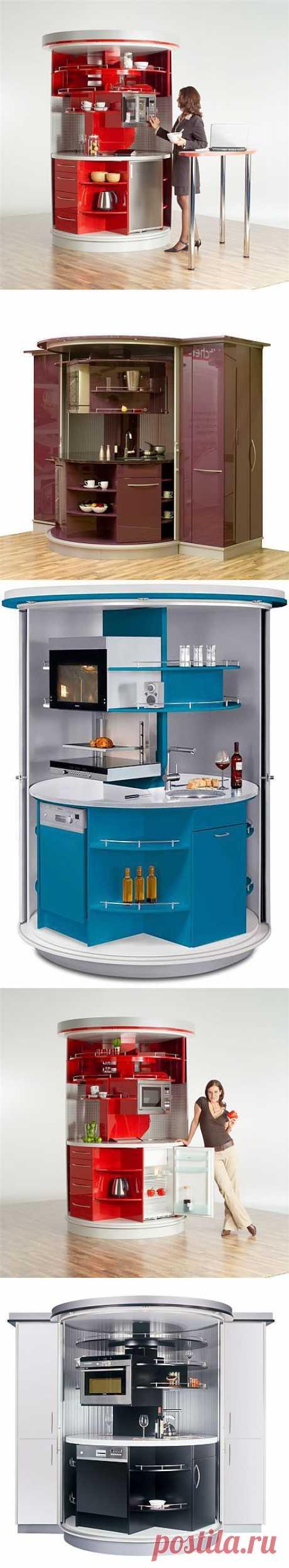 Дизайн вращающейся компактной кухни | Наш уютный дом
