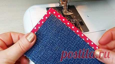 Швейные лайфхаки. Хитрости, которыми я часто пользуюсь для обработки уголков/sewing life hacks