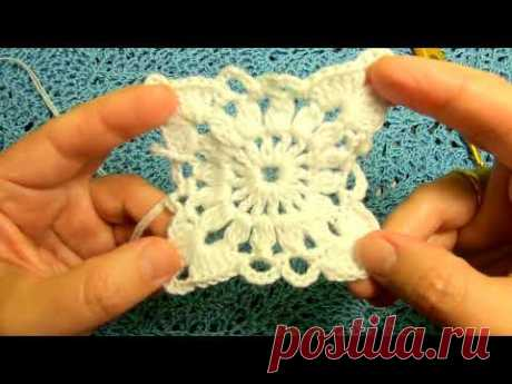 Самый ПРОСТОЙ и КРАСИВЫЙ МОТИВ , Вязание КРЮЧКОМ crochet beautiful pattern ( узор № 320)