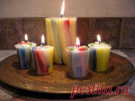 Изготовление свечей в домашних условиях. Декоративные свечи своими руками