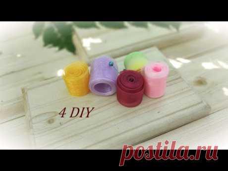 4 Interesting DIY Crafts from Organza Ribbons 🌼 4 Идеи канзаши из органзы МК из лент