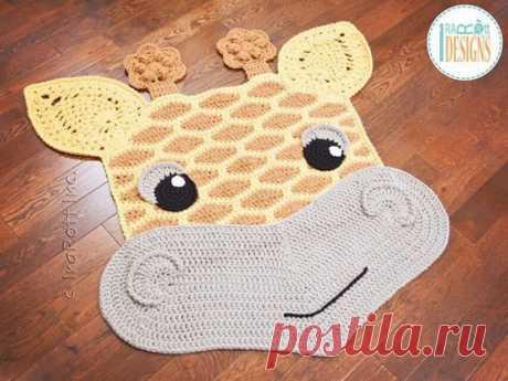 Вязаные коврики в форме забавных животных: идеи — Сделай сам, идеи для творчества - DIY Ideas