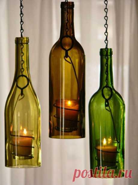 29 idées qui vous permettront de recycler vos bouteilles en verre de façon astucieuse | Daily Geek Show