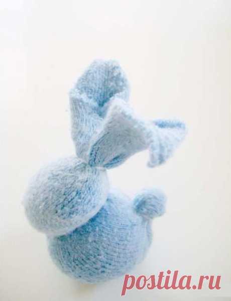 Мини-зайчик из носка | Мастер классы | рукоделие, декор, полимерная глина, плетение, вышивание